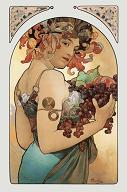 Pohled A. Mucha - Fruit